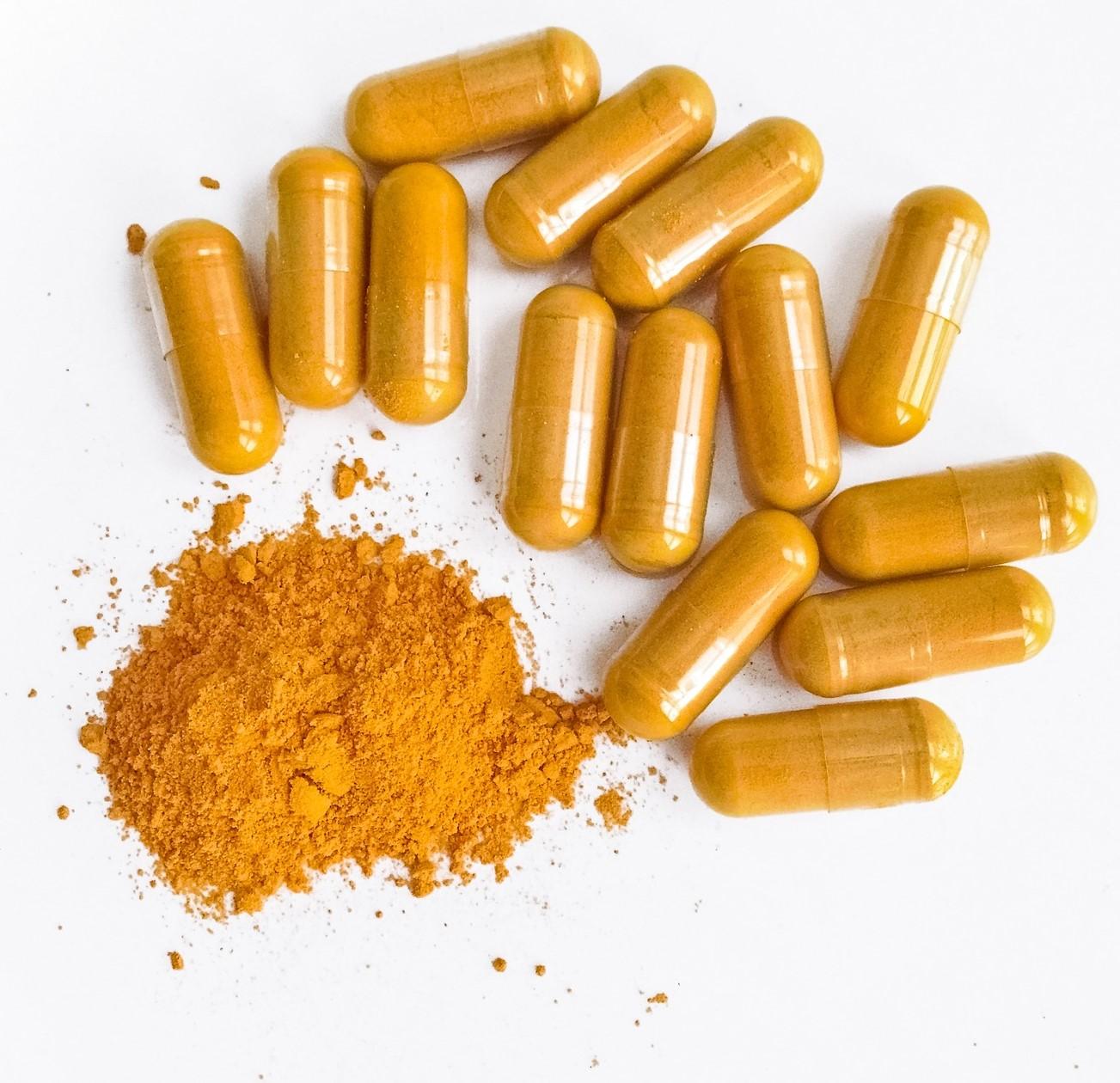 curcumin in capsules