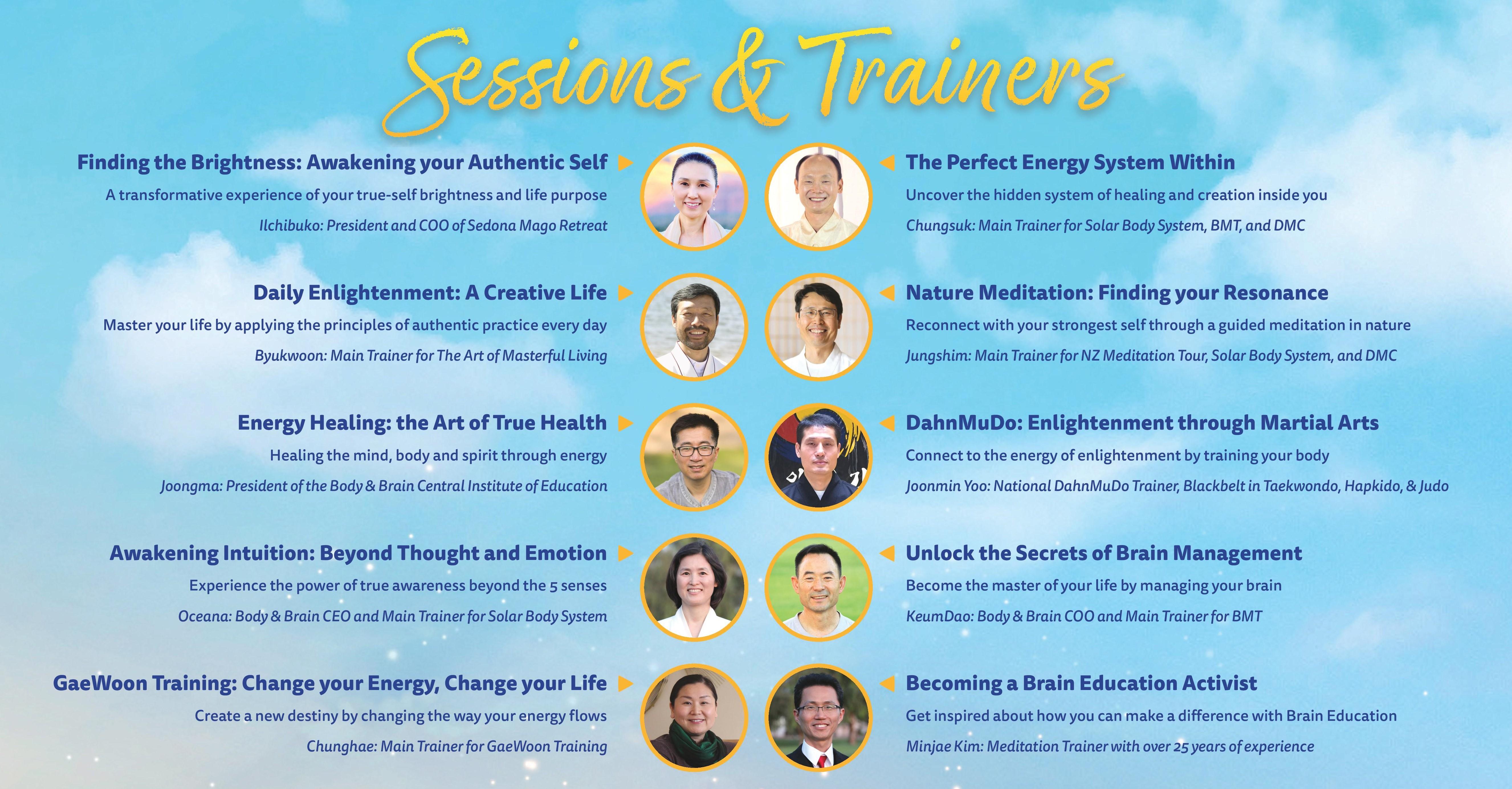 Brain Education Festival 2020 Trainer Information