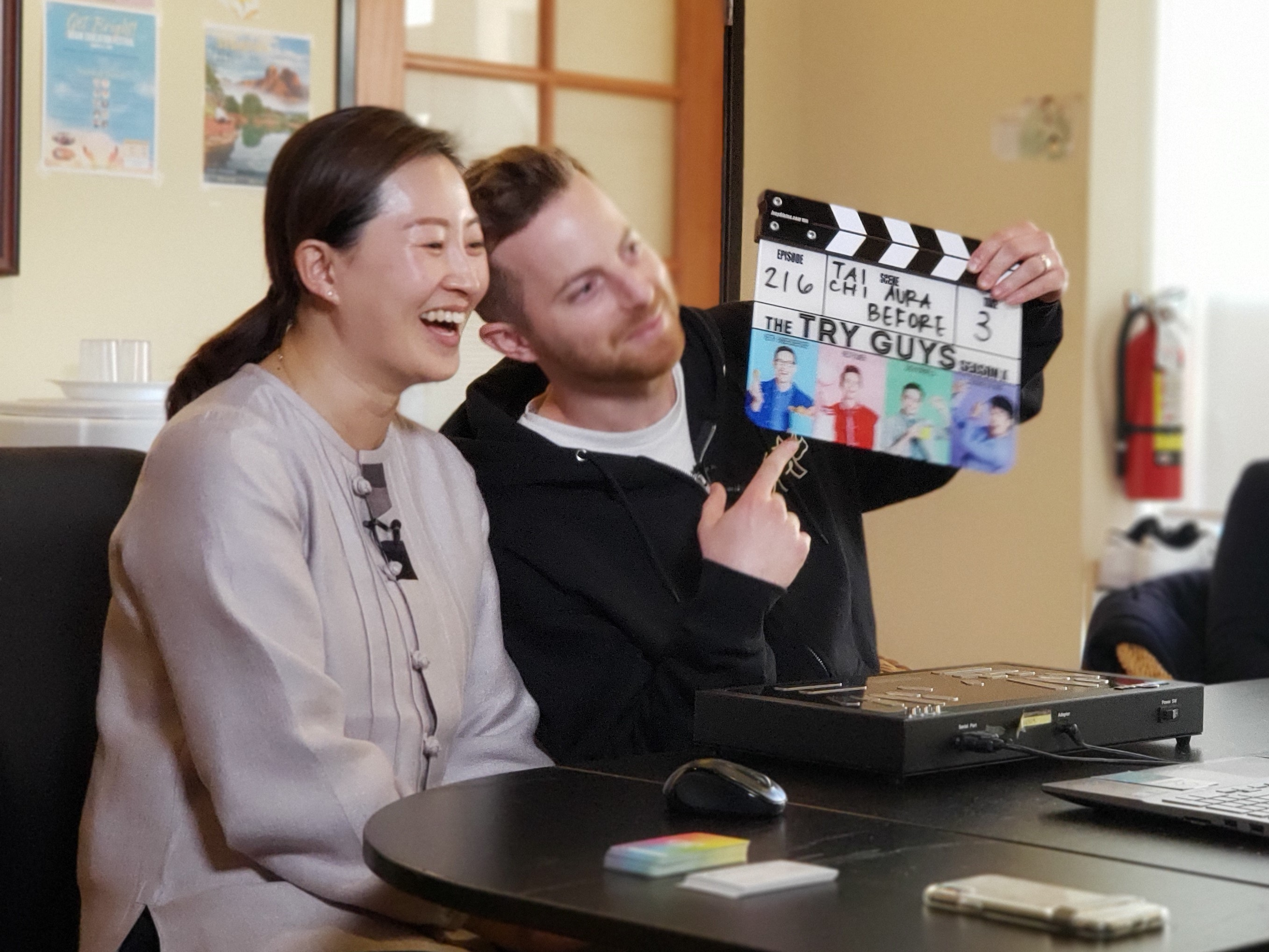 Ned bravely takes the hot seat with Master Michelle