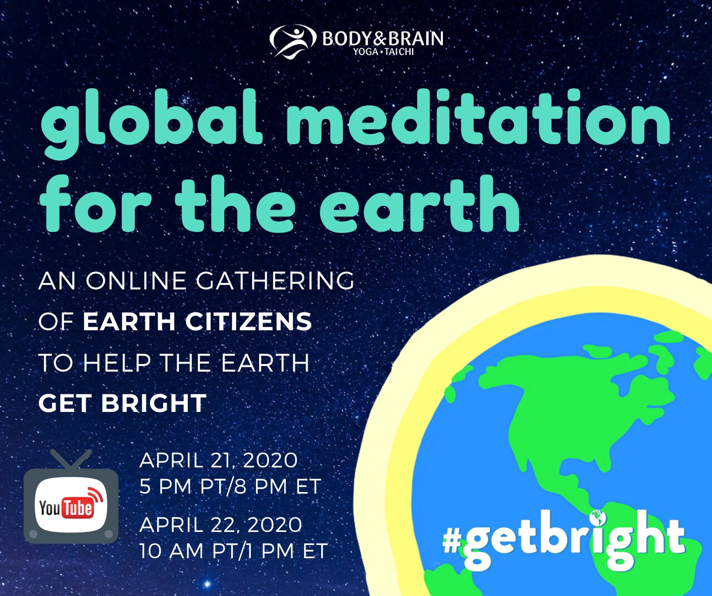 Global Meditation Earth Day Celebrations on YouTube