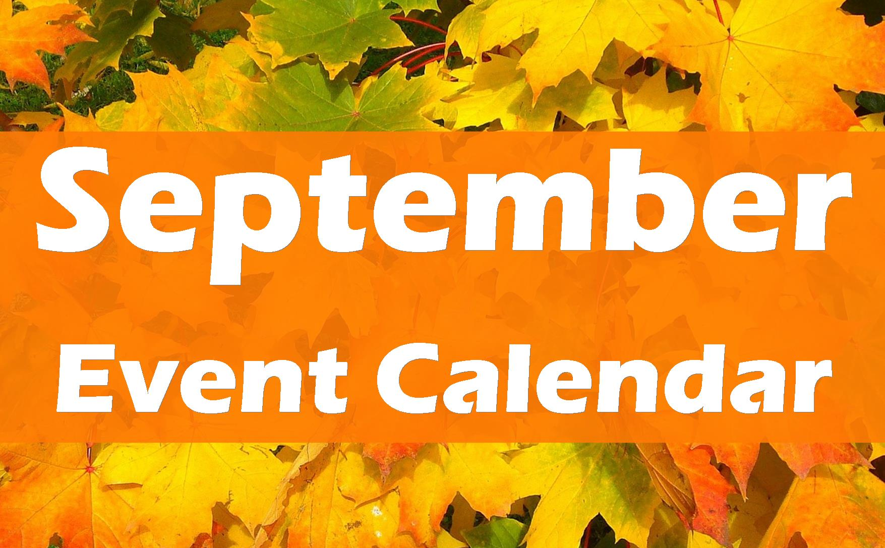 September 2019 Event Calendar